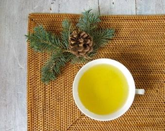 Winter Forest Green Tea with Almond Orange & Nutty Pine Flavor • Luxury Loose Leaf Blend • Festive Gourmet Gift