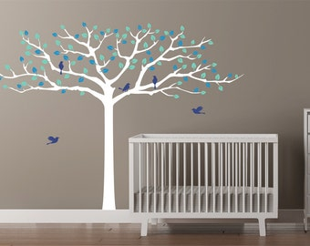 Wide Colorful Tree Wall Decal for nursery or kid's room - Wall Decals SKU1568