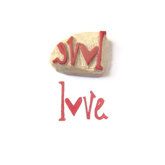 SALE Give A Little Love Cling Rubber Stamp - Ready to Ship