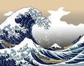 The Great Wave off Kanagawa - Cross stitch pattern pdf format