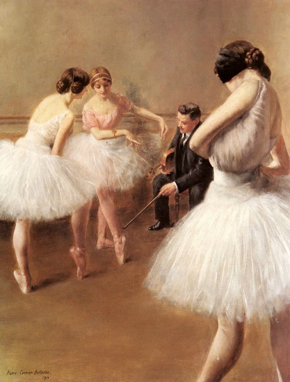 The Ballet Lesson - Cross stitch pattern pdf format