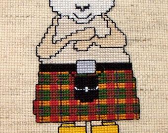 Three Scottish Sheep Cross Stitch Pattern Set