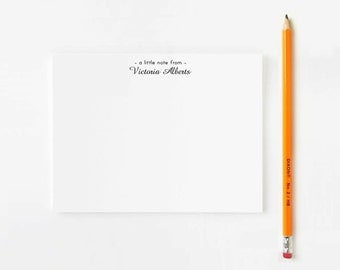 Personalized Stationery set // Personalized stationary // a little note from // modern stationery // Personalized Thank you cards