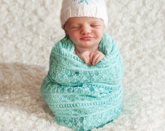 Snowflake Beanie Knitting Pattern - All Sizes Newborn through Adult Male Included  - PDF Sale - Instant Digital Download