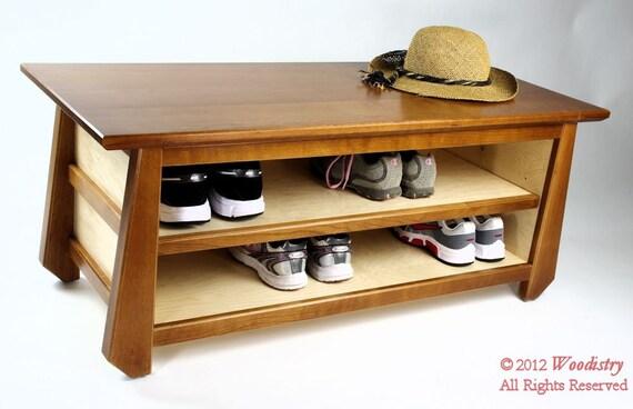 handcrafted tansu shoe storage bench made in usa sale. Black Bedroom Furniture Sets. Home Design Ideas