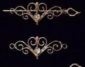 Bronze & Crystal Barrette Design 1