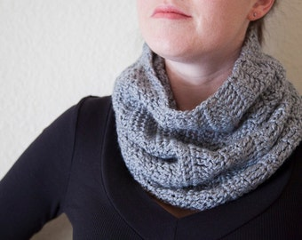 Womens Scarf - 50% OFF SALE - Men's Grey Cowl Scarves - Gray Cowl Scarf