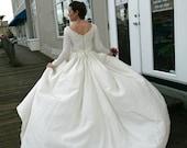 Wedding Dress, Vintage, Ivory, small, 60s