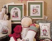 Vintage 90s A Little Christmas Sparkle Cross Stitch Leaflet by Sisters Two Inc Leasure Arts Leaflet 890 Christmas Cross Stitch