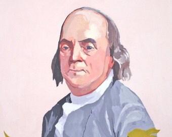 """5x7 giclee print - """"Benjamin Franklin 2"""""""