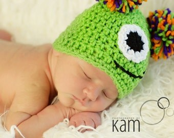 Monster Hat - One Eye - Crochet