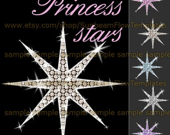 INSTANT DOWNLOAD - Rhinestone stars 01 clip art PNG elements Digital lady girl Images Scrapbooking Scrap kit Invitations Print Your Own
