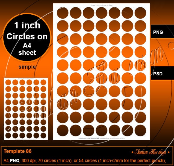 Instant download 1 inch circles template 86 printable bottle for Etsy shop policies template
