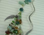 bookmark amazonite angel wing  fairy  gift stones colorful  under  20 talisman magic jade