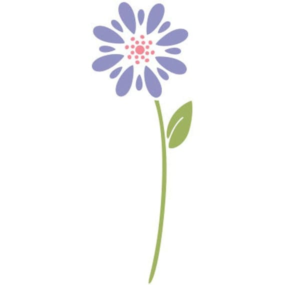 Flower stencil for painting girls room wall mural - Flower stencils for walls ...