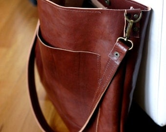 Handmade LINEN and LEATHER Bag Italian leather Tote BAG