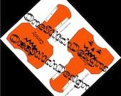 Printable Halloween Candy Treat Box Jack O Lantern French Fry Carton Favor Gift Box Orange and Black DIY