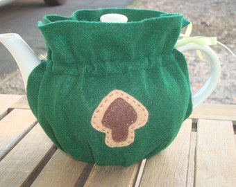 Green Felt Tea Cozy