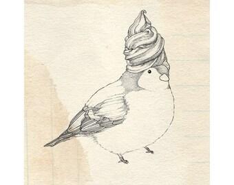 Whippy Bird Print