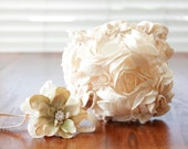 Romantic Champagne Blooming Flowers Diaper Cover Photography Prop