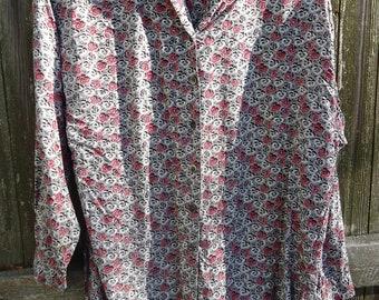 Vintage Esprit Shawl Collared Prairie Shirt
