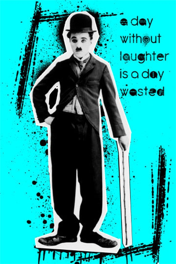 Items similar to Charlie Chaplin Pop Art Quote Poster ...