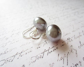Silver Earrings, Grey Earrings, Bridal Party Earrings, Made In Sweden, Swedish Jewelry, Scandinavian Jewelry