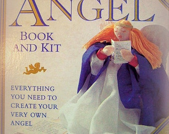 Vintage Make Your Own Angel Book and Kit, Holiday Handcrafting, Tree Topper, Collectible, Gift For Her, CHRISTMAS