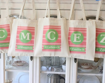Bridesmaid Totes,Birthday Bags,Gift Bags, Wedding Totes, Birthday Favor,Cotton Tote Bag,Canvas Bags,Bridesmaid Bags,Modern Vintage Market