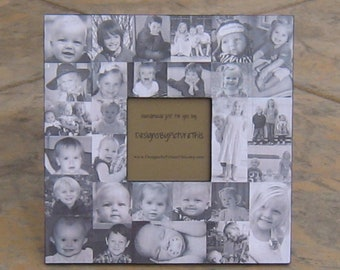 """Mother of the Bride Gift, Wedding Collage Picture Frame. Personalized Parent's Thank You Gift, Unique Mother's Day Gift, 12"""" X 12"""""""