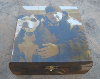 Pet Memorial Keepsake Box, Personalized Photo Keepsake Box, Unique Dog Memorial, Pet Urn, Custom Cat Memorial, Pet Gift Memory Box