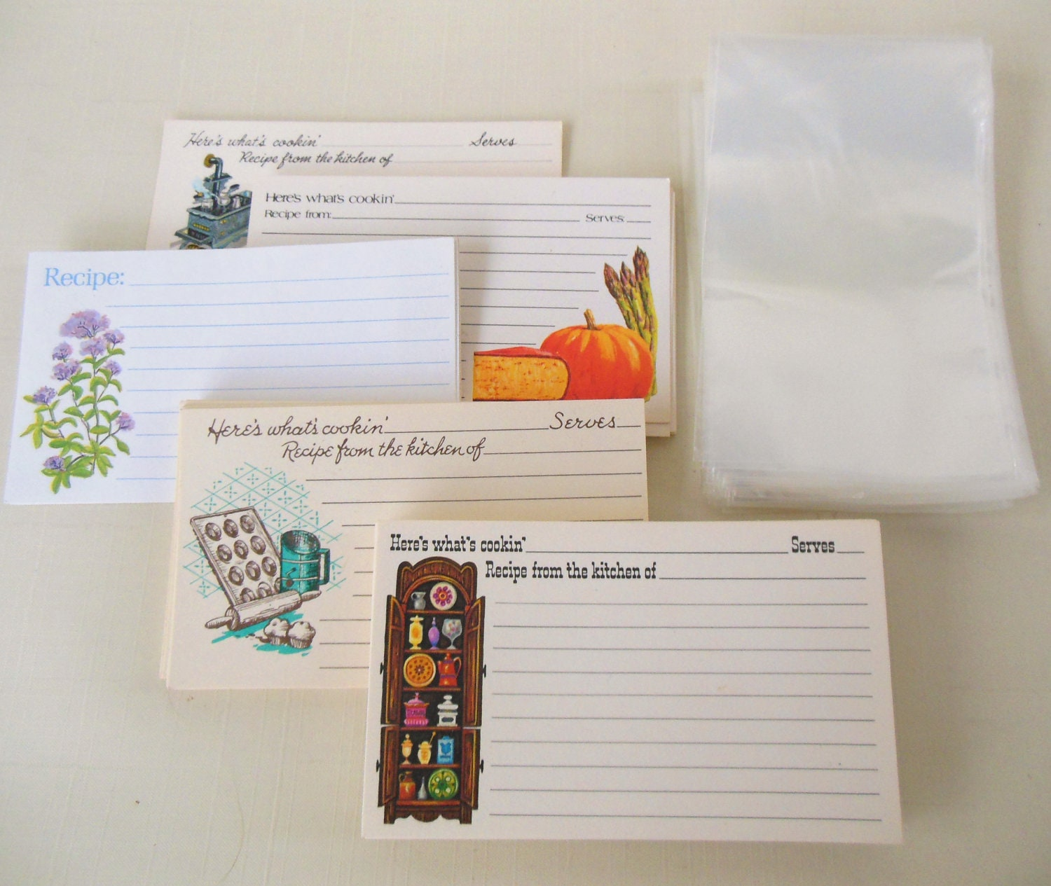 Blank Recipe Cards Amp Plastic Protector Sleeves By
