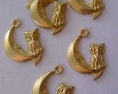 Crescent Moon w Owl (6 pc )