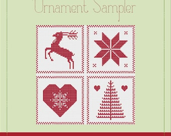 Ornament Sampler - A Cross Stitch Pattern by Kaye Prince of Miss Print