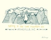 Asheville - 8x10 Art Print