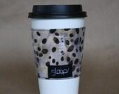 Reusable Coffee Cup Cozy- Batik Coffee Print