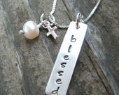 Blessed necklace, religious necklace, religious necklace, cross, confirmation gift