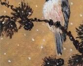 Chickadee Set 15 Bird 2 Brushstroke Enhanced 5 X 7 Inch Detail Print