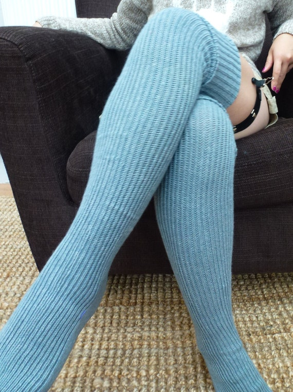 Thigh High Knitted Wool Socks Better Than Leg Warmers