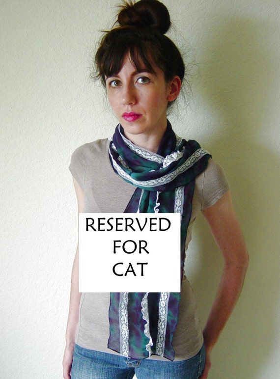 RESERVED for Cat Lan, three scarves