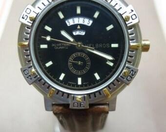 Men's Helbros Watch - BROWN BAND
