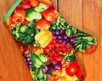 Oven Mitt, Fruit and Veggies Oven Mitt