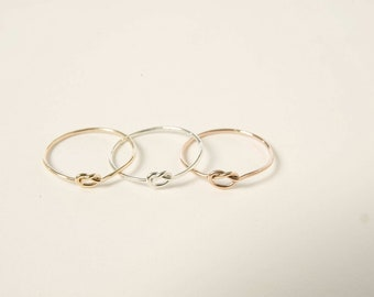 Will you be my Bridesmaid Gift - Delicate Knot Ring - Gift Idea for her - Love Knot Ring - Bridesmaids Proposal - Bridal Party Gifts