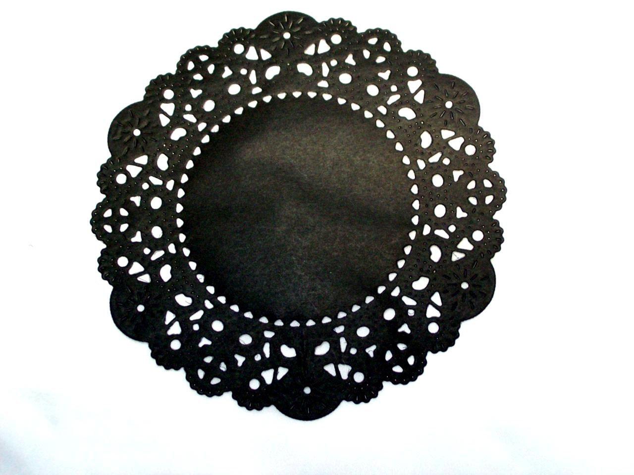 Black Paper Doilies Lookup Beforebuying Doyleys