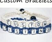 Make Your Own Couples Bracelets, Couples Jewelry, Personalized Bracelets, Personalized Jewelry, Set of 2 Hemp Bracelets, Couples Gift