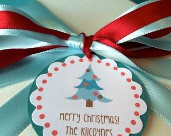 Christmas Favor Gift Tags Christmas Tree