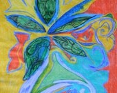 Abstract OOAK Mixed Media Piece--Colored Pencil-Watercolor Paint-and Pencil