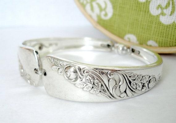 Vintage Spoon Bracelet, Size Large, Bridal Corsage 1953