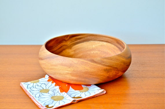 handmade wooden salad bowl items similar to vintage large handmade wooden salad bowl 7545