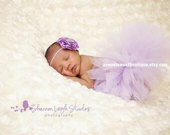 Lavender Tutu And Headband Baby Girl Tutus Lavender Tutu Pale Purple Tutu Baby Tutu And Headband Lavender Baby Tutu Lavender Newborn Tutu